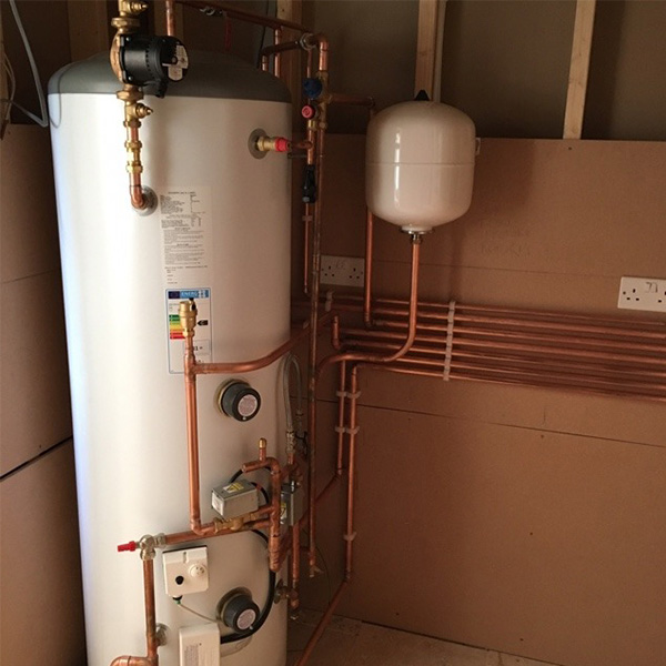 previous plumbing and heating work